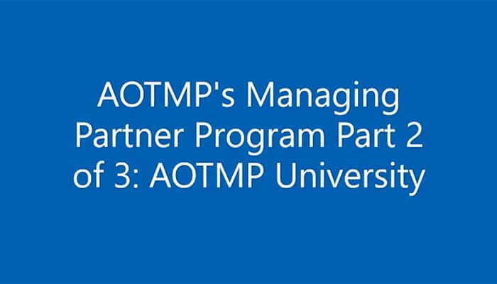 Part 2 in a 3-part series - AOTMP Solutions