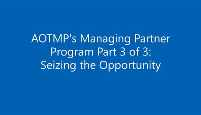 Part 3 in a 3-part series - Managing Partner Program