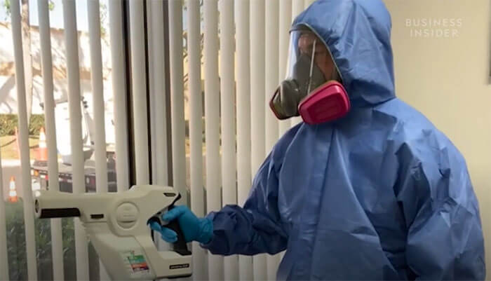 How crime scene cleaners are disinfecting hot spot areas from the coronavirus