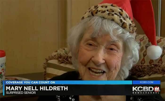 Elder Elves Surprise 99-Year-Old Woman