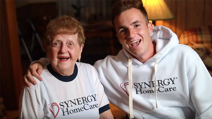 Welcome Kevin and Grandma Lill as SYNERGY HomeCare Brand Ambassadors