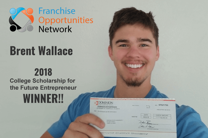 Franchise Opportunities Scholarship Winner 2018 - Brent Wallace