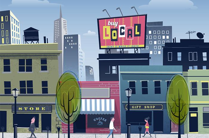 city shops illustration