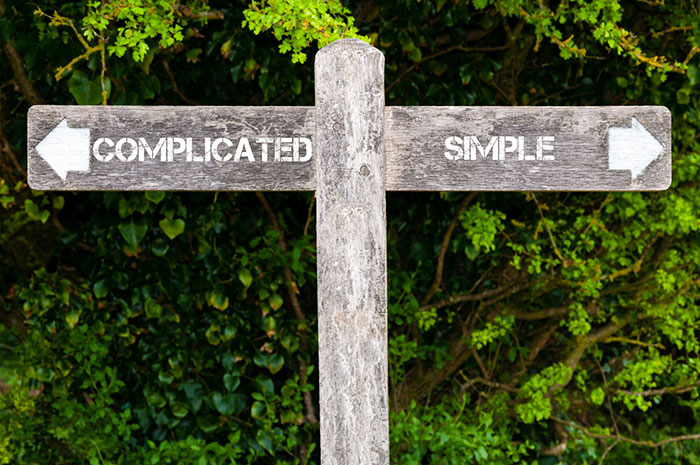 complicated simple sign