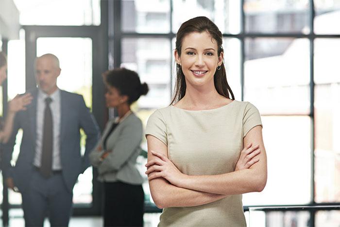 confident professional business woman