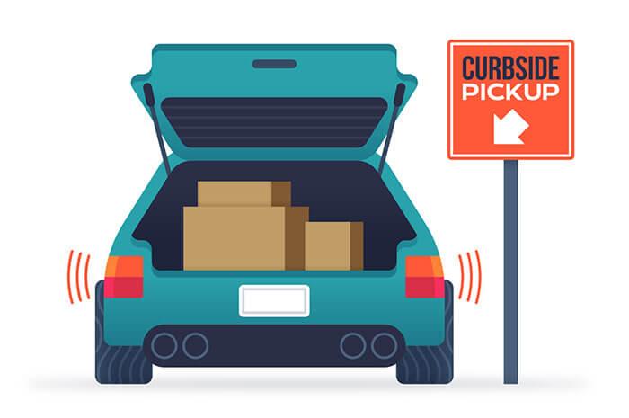 curbside pickup trunk open