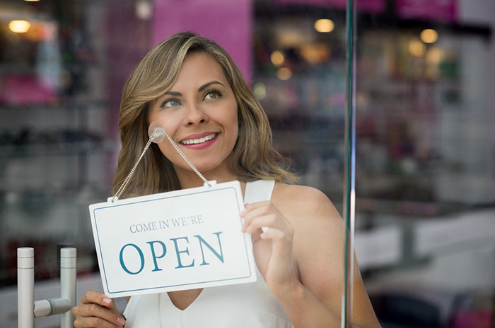 woman in franchising