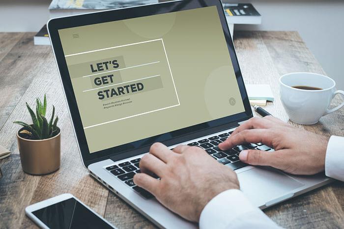 let's get started laptop