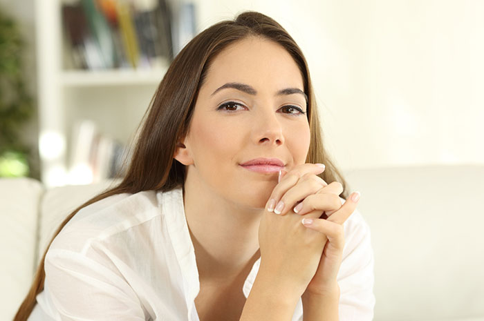 woman looking thoughtfully