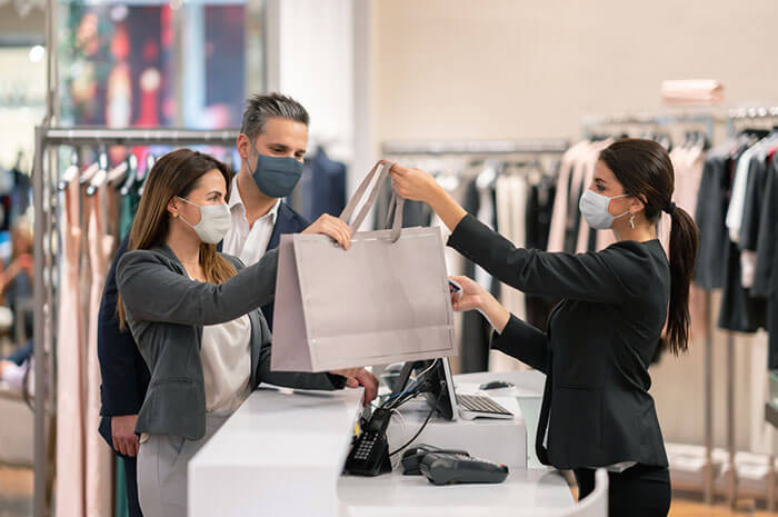 masks while shopping
