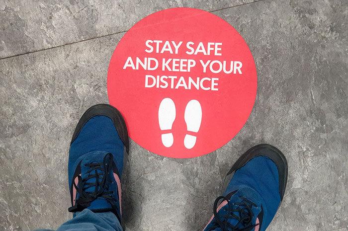 social distance marker