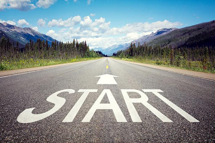 start road arrow